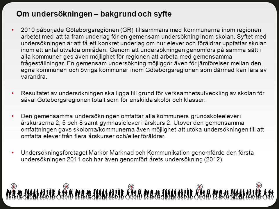 Delområdesindex Örgryte-Härlanda - Åk 8 Antal svar: 196 av 284 elever Svarsfrekvens: 69 procent