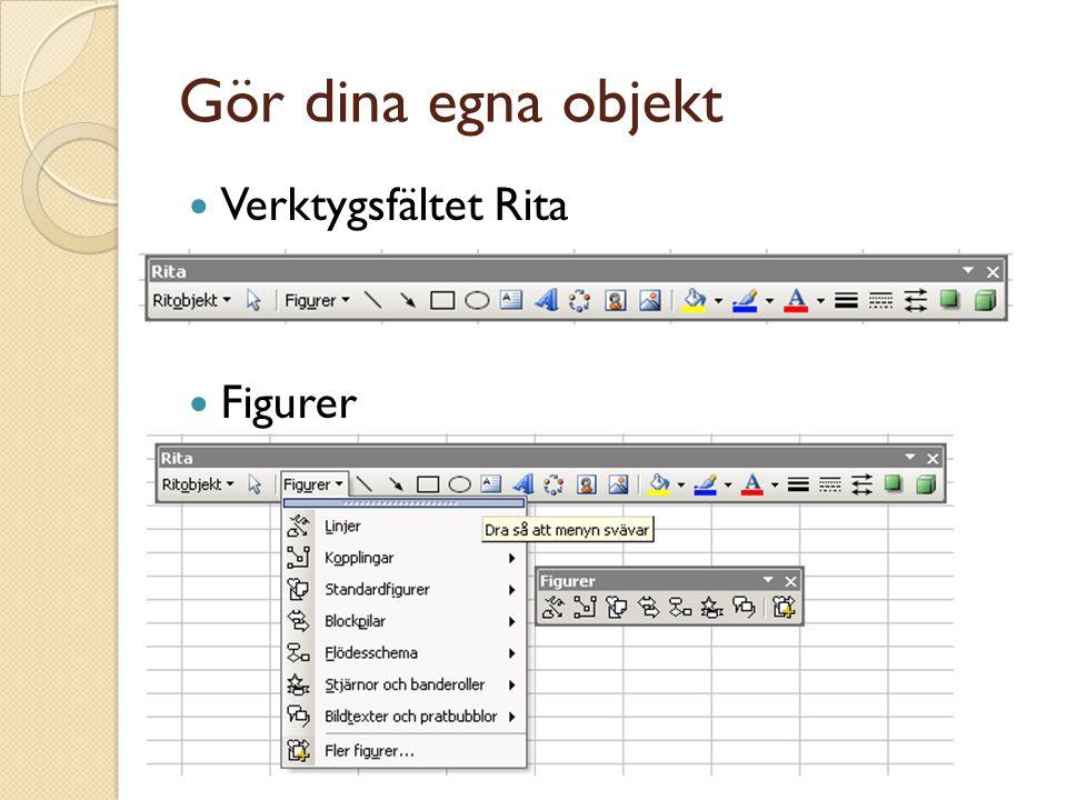 Gör dina egna objekt Verktygsfältet Rita Figurer