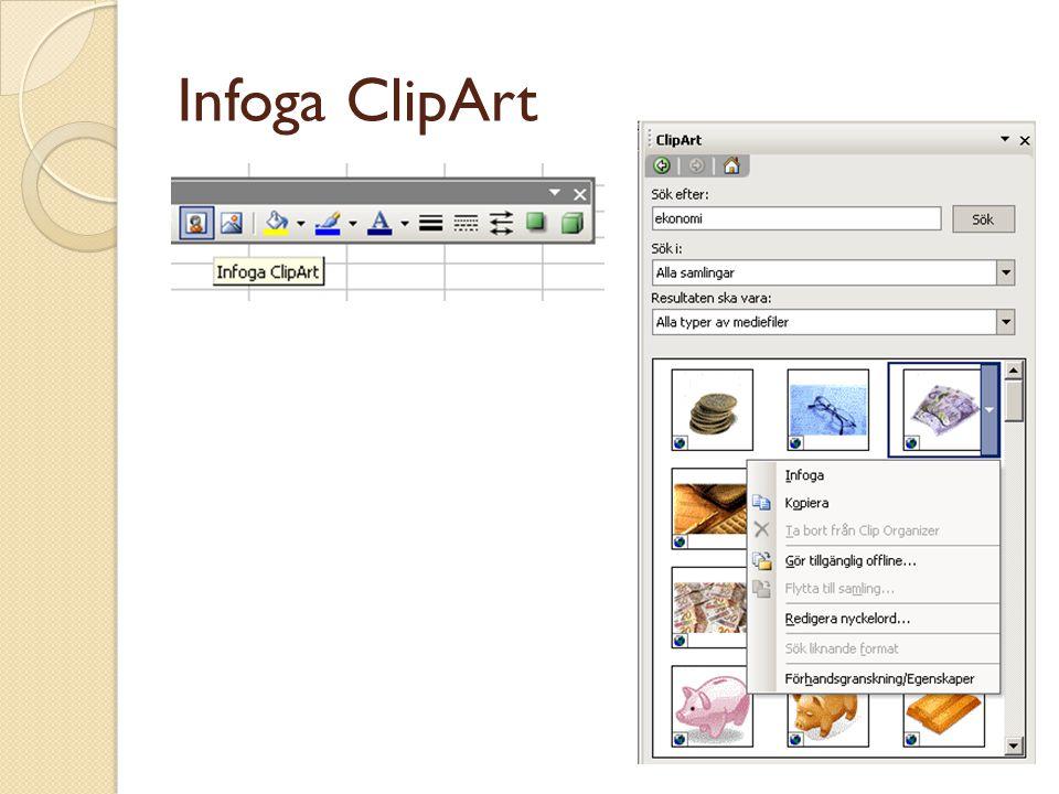 Infoga ClipArt