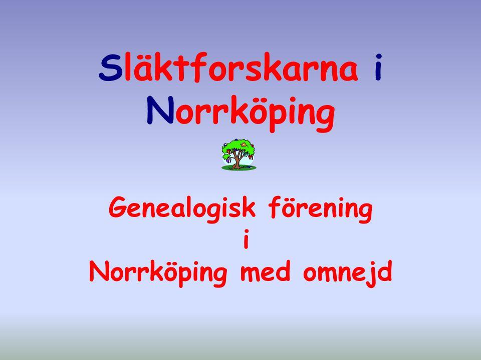 Släktforskarna i Norrköping Genealogisk förening i Norrköping med omnejd
