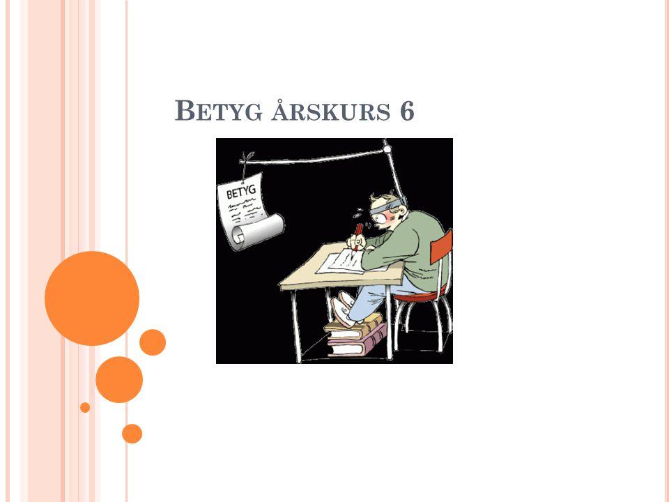 B ETYG ÅRSKURS 6 1
