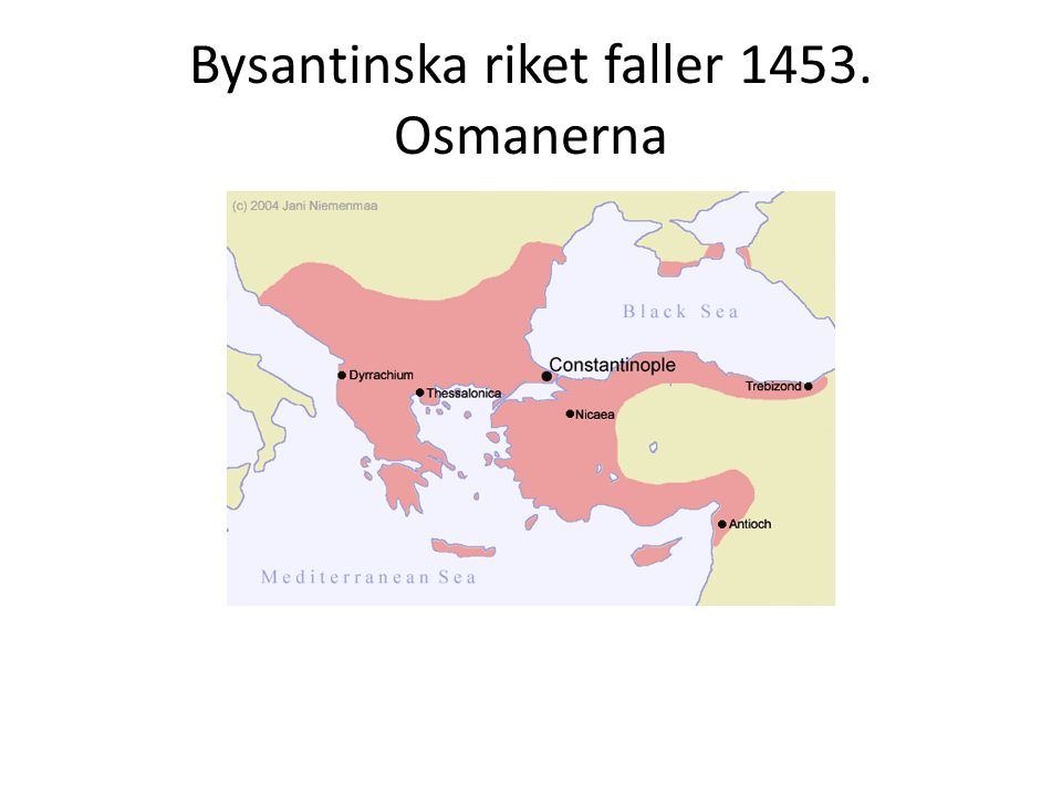 Mitten 1500- talet.2 imperier: Habsburgska och osmanska Ge exempel på osmanska rikets betydelse.