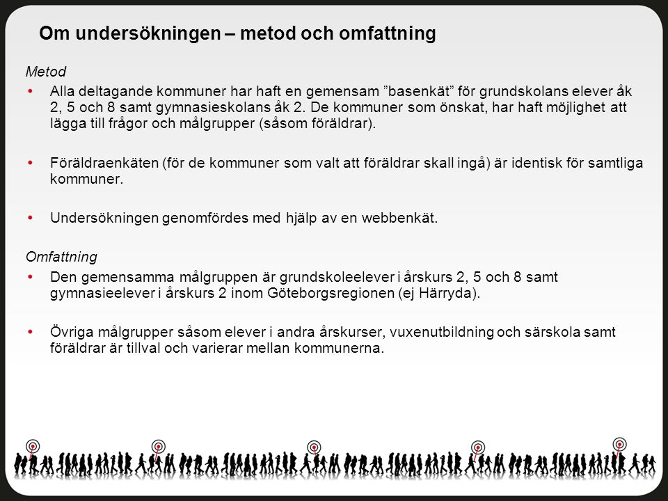 Delområdesindex Göteborgs stad - Klarebergsskolan 7-9 - Åk 8 Antal svar: 72 av 85 elever Svarsfrekvens: 85 procent