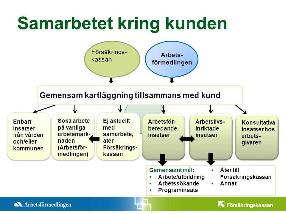 Presentationstitel Månad 200X Sida 10 Samarbetet kring kunden Försäkrings- kassan Arbets- förmedlingen Gemensam kartläggning tillsammans med kund Enba
