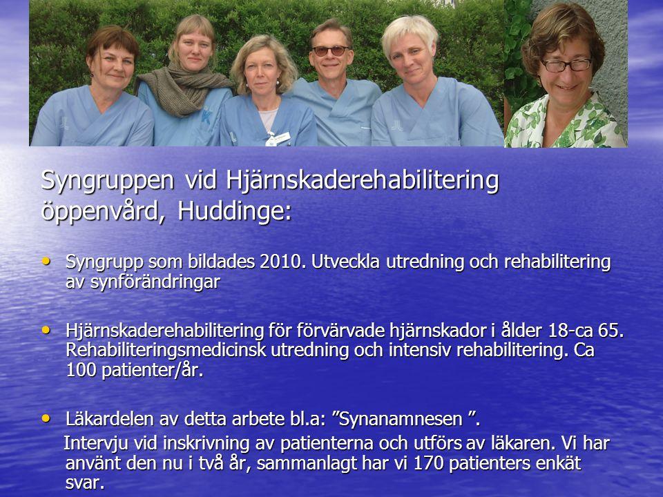 Syngruppen vid Hjärnskaderehabilitering öppenvård, Huddinge: Syngrupp som bildades 2010.