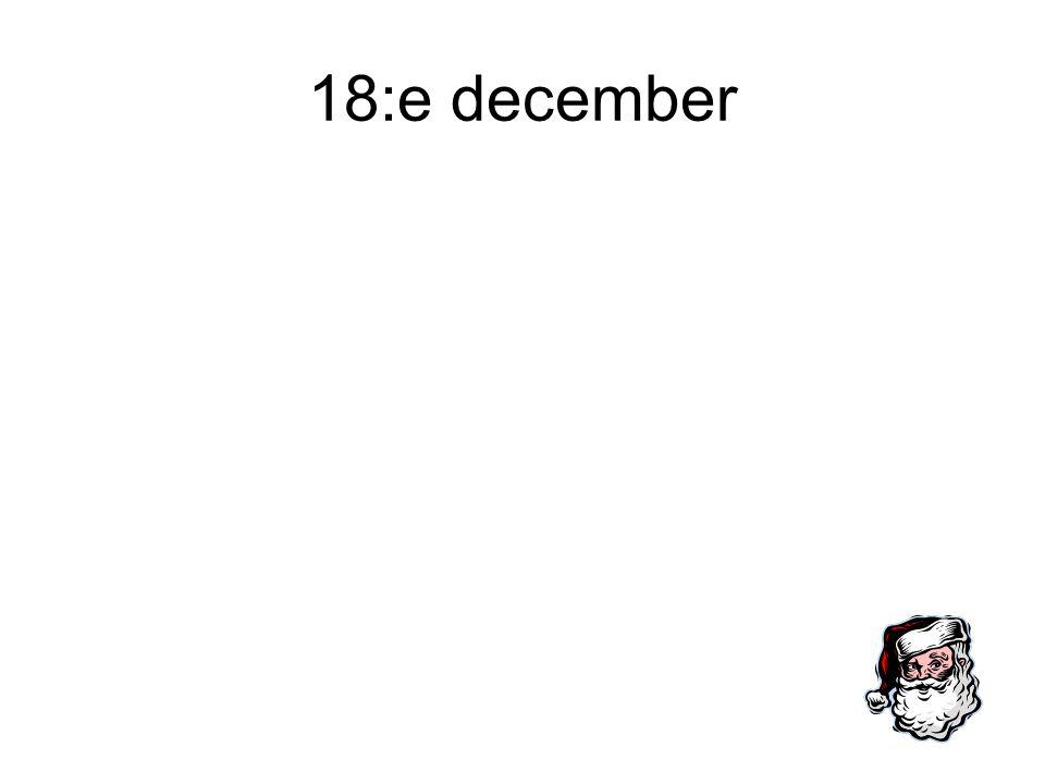 18:e december