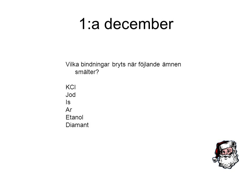 2:a december Vad är en dipol?