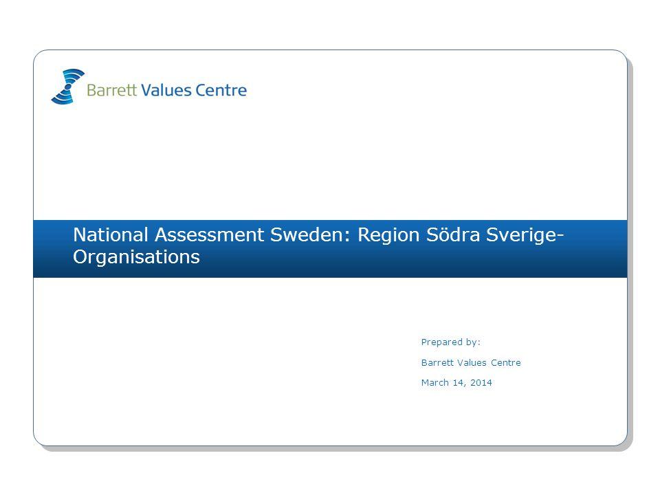 National Assessment Sweden: Region Södra Sverige- Organisations (324) 3+.