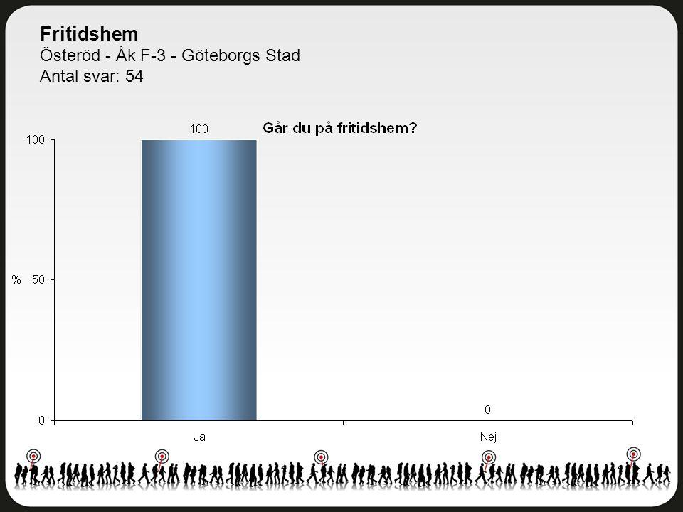 Fritidshem Österöd - Åk F-3 - Göteborgs Stad Antal svar: 54