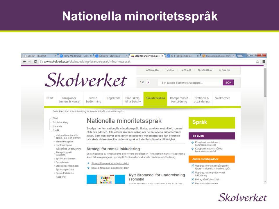 Nationella minoritetsspråk