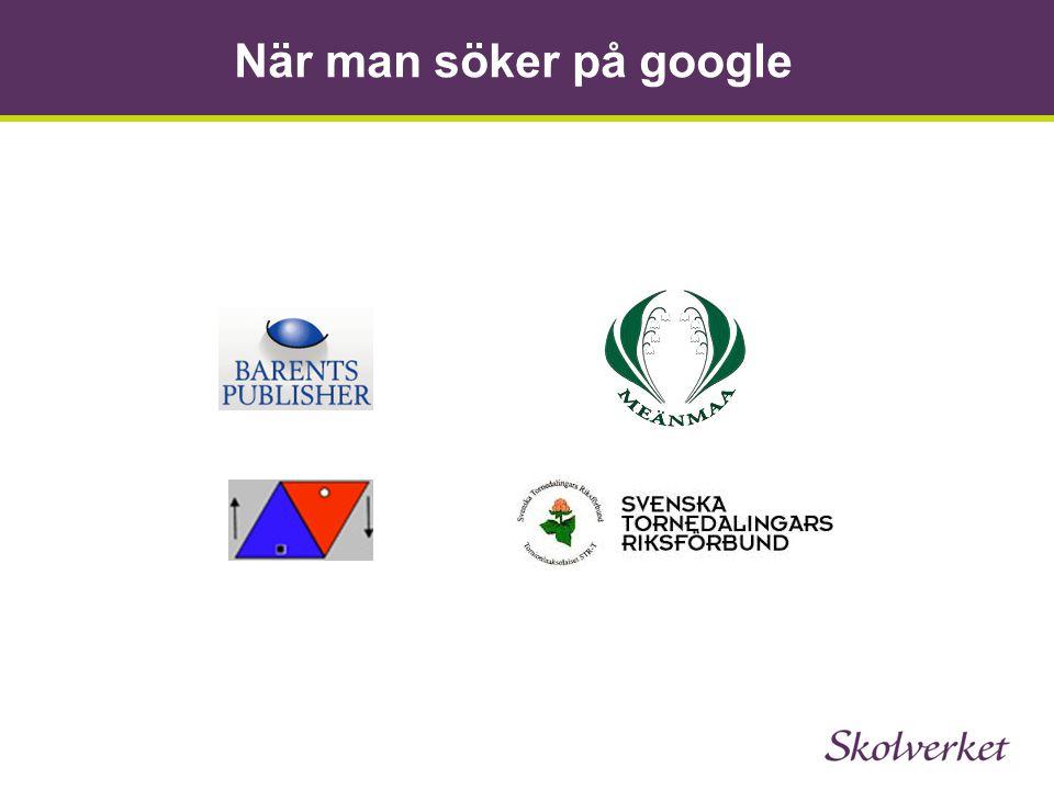 När man söker på google