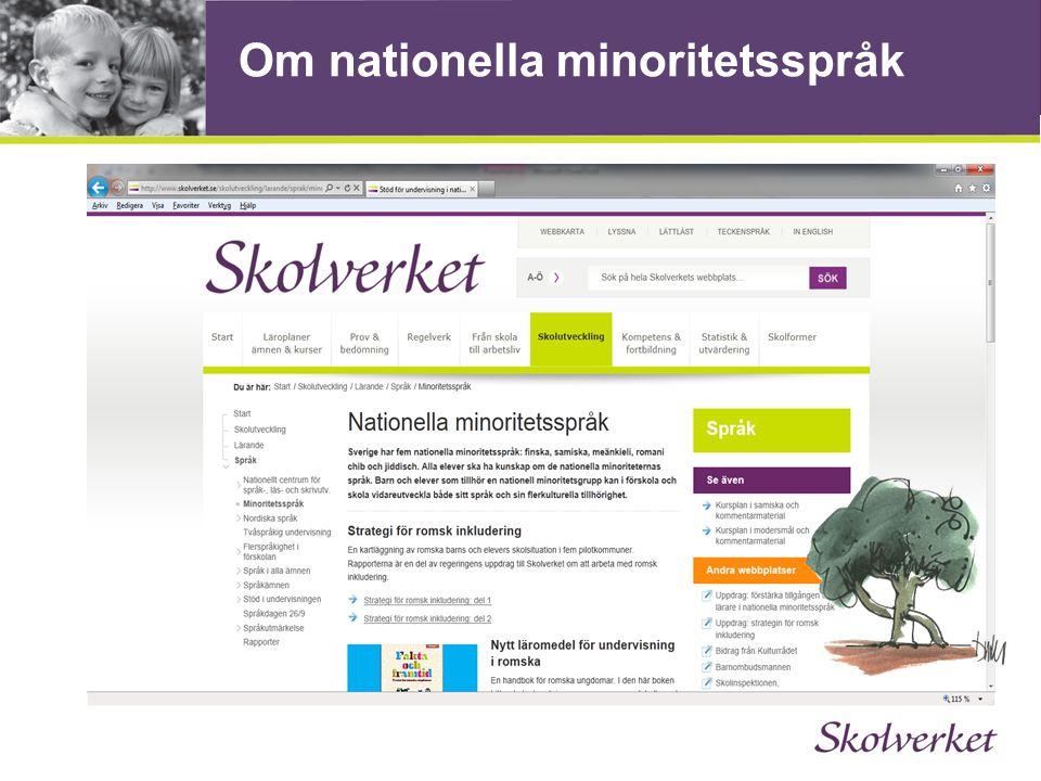 Om nationella minoritetsspråk