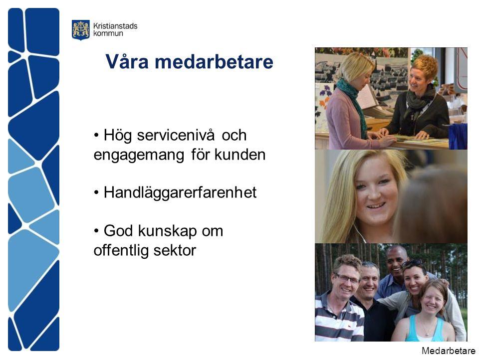 Hög servicenivå och engagemang för kunden Handläggarerfarenhet God kunskap om offentlig sektor Medarbetare Våra medarbetare