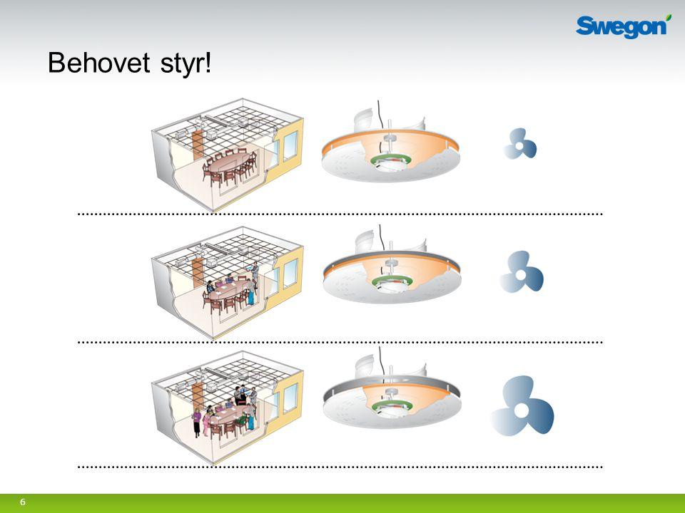 7 ADAPT Sphere och ADAPT Free – Don med aktiv spalt ADAPT Colibri och ADAPT Exhaust – Don med aktivt spjäll i anslutningslådan Flödesreglerade - tryckoberoende