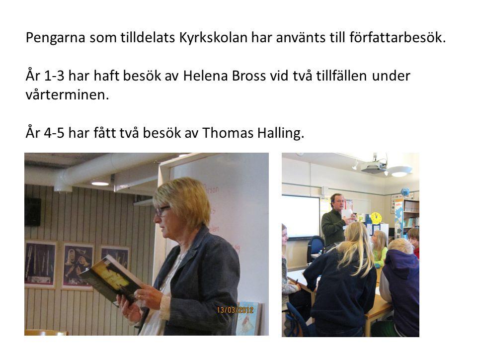 Inför besöken lånade klasserna författarnas böcker på filialbiblioteket.