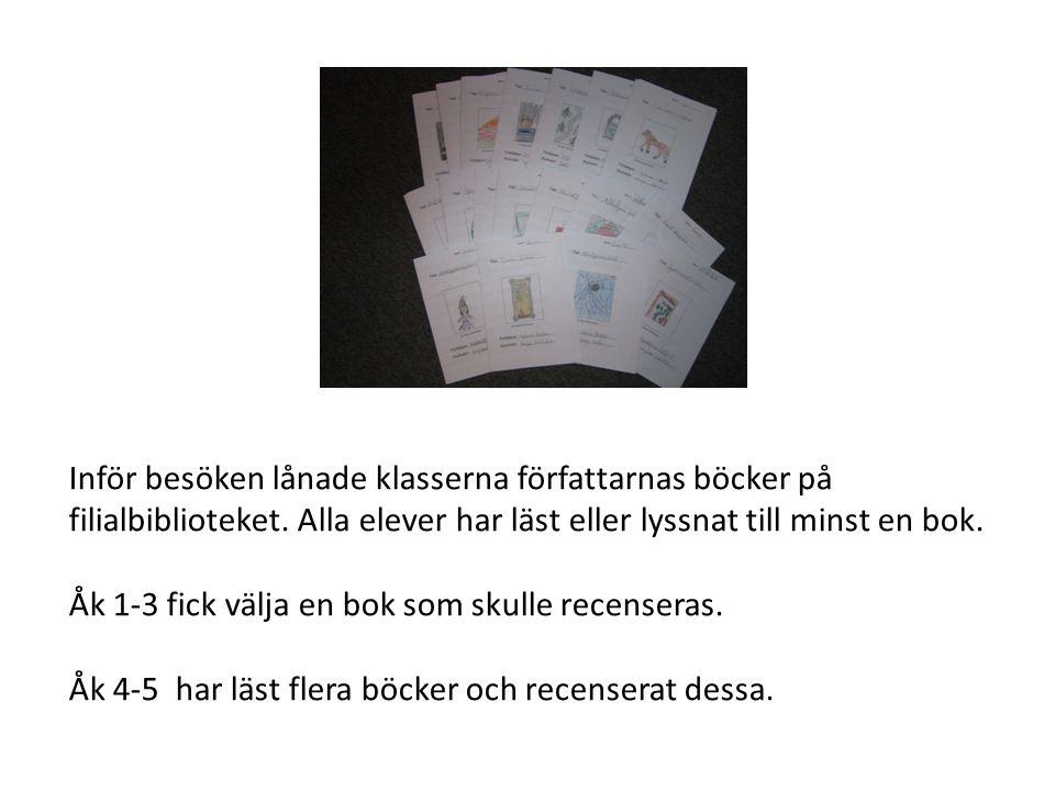 Åk 1-3 fick ta del av Helenas första bok som kom ut i endast ett handskrivet exemplar.