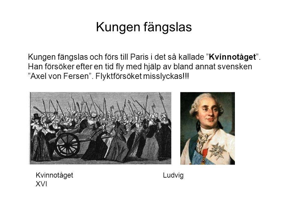 Kungen fängslas Kungen fängslas och förs till Paris i det så kallade Kvinnotåget .