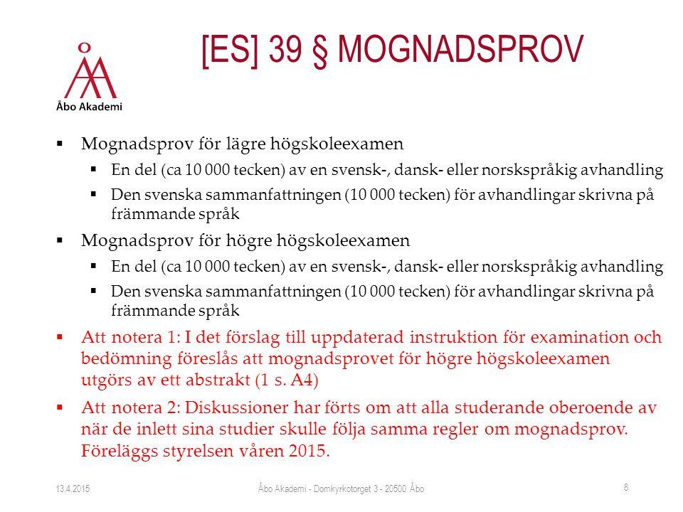  Mognadsprov för lägre högskoleexamen  En del (ca 10 000 tecken) av en svensk-, dansk- eller norskspråkig avhandling  Den svenska sammanfattningen