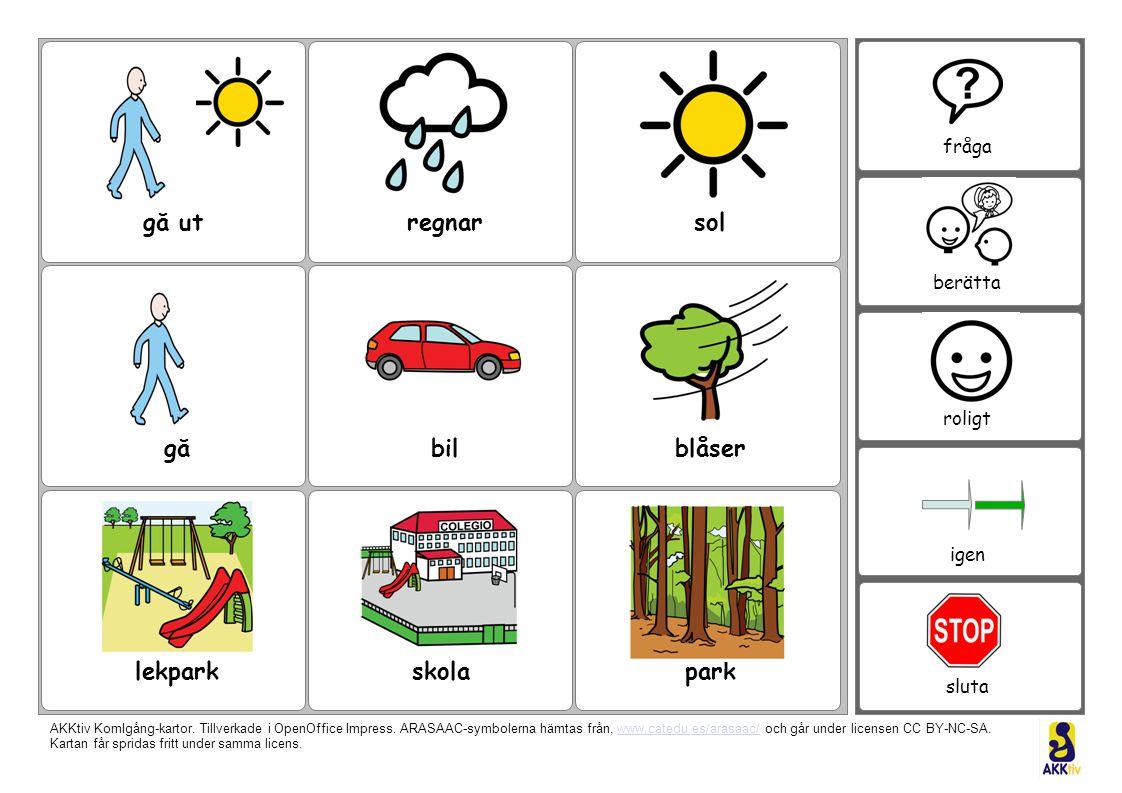 gå utregnarsol blåserbilgå lekparkskolapark fråga berätta roligt igen sluta AKKtiv KomIgång-kartor.
