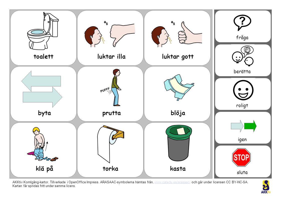toalettluktar illaluktar gott blöjapruttabyta klä påtorkakasta fråga berätta roligt igen sluta fråga berätta roligt igen sluta AKKtiv KomIgång-kartor.