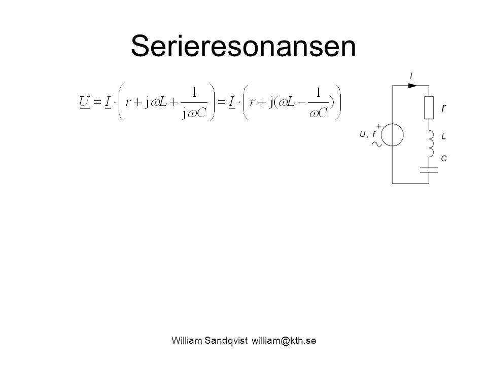 William Sandqvist william@kth.se Serieresonansen r