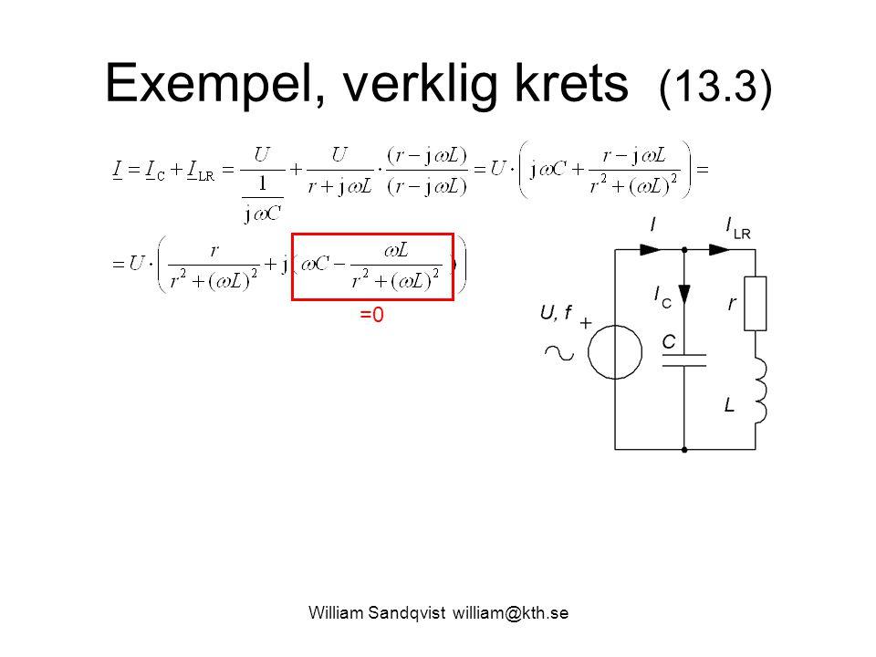 Exempel, verklig krets (13.3) =0