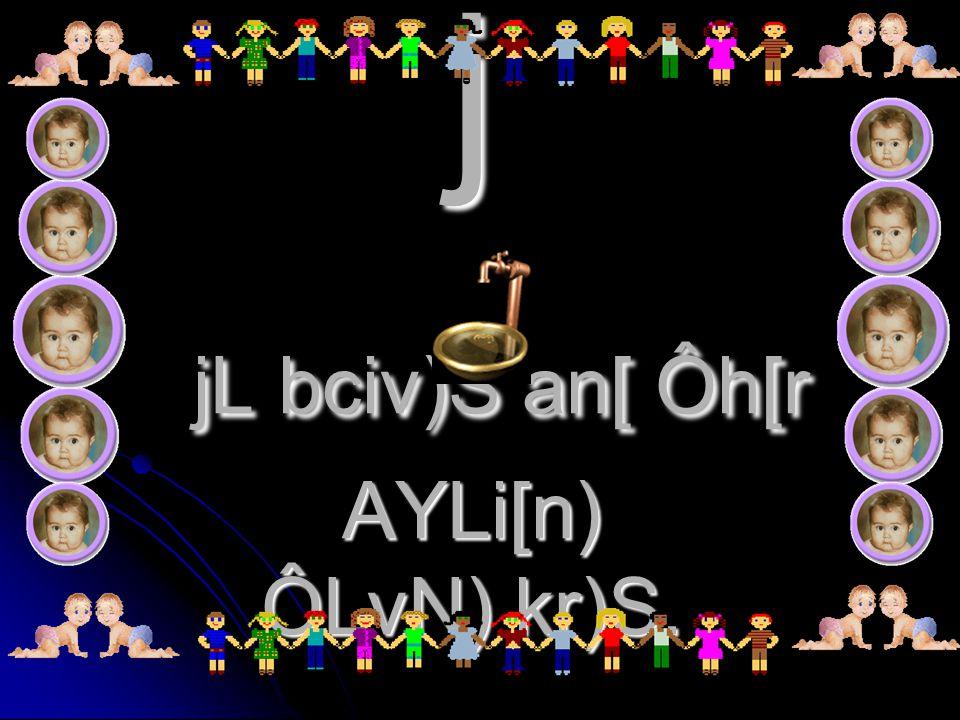 j jL bciv)S an[ Ôh[r AYLi[n) ÔLvN) kr)S.