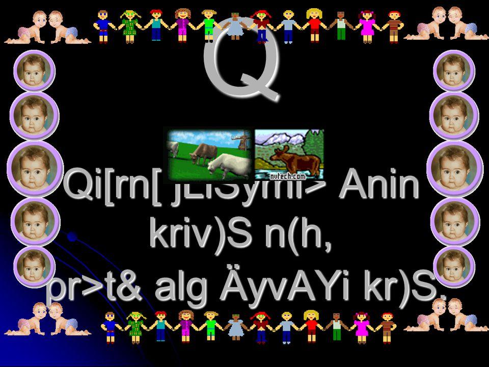 Q Qi[rn[ jLiSymi> Anin kriv)S n(h, pr>t& alg ÄyvAYi kr)S.