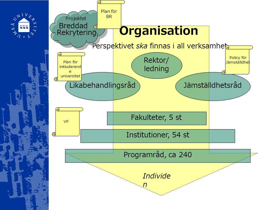Organisation Perspektivet ska finnas i all verksamhet...