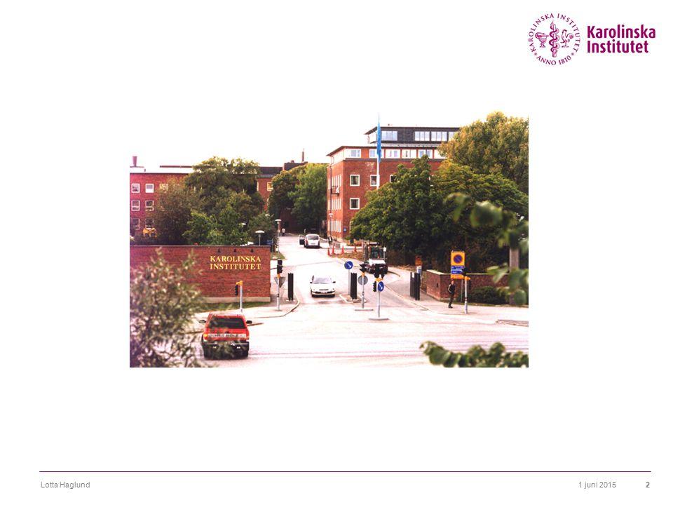 1 juni 2015Lotta Haglund13 Service- eller kunskapsorganisation.