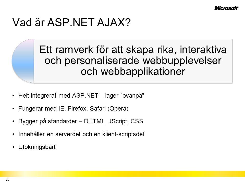 Vad är ASP.NET AJAX.