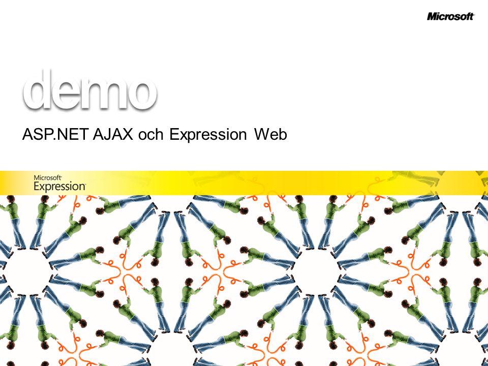 ASP.NET AJAX och Expression Web