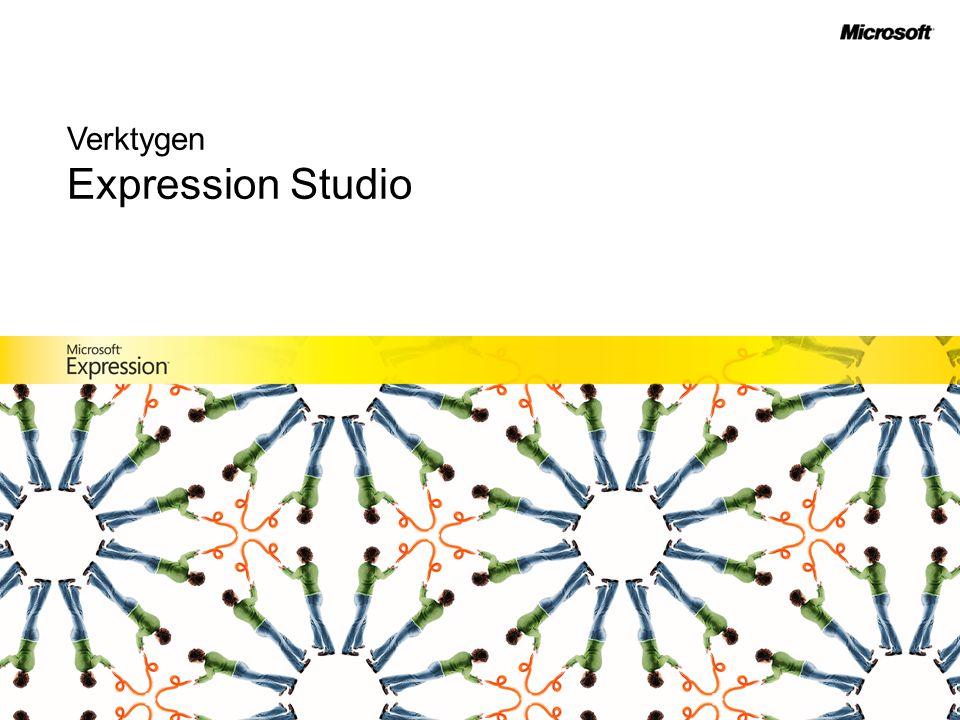 Expression Web –Professionell webbdesign Expression Media –Professionell hantering av media –Expression Media Encoder Expression Blend –Professionell interaktiv design Expression Design –Professionell grafisk design