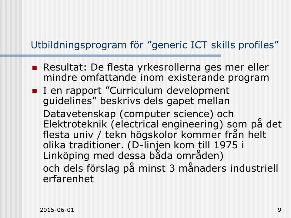 2015-06-0120 Problem och vad skall vi göra.Kompetens inom industriell programvaruteknik.