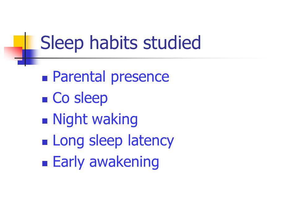 RESULTAT Kortare sömntid Ändrade sömnvanor Få föräldrar tycker att barnen har sömnproblem