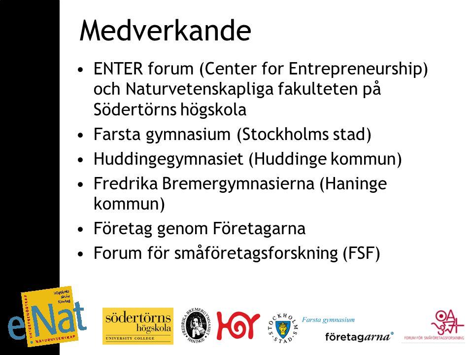 Syfte att stimulera entreprenörskap inom de naturvetenskapliga utbildningarna inom gymnasieskolan och högskolan bygga upp kompetens i entreprenörskap genom dialog utveckla en entreprenöriell lärmiljö