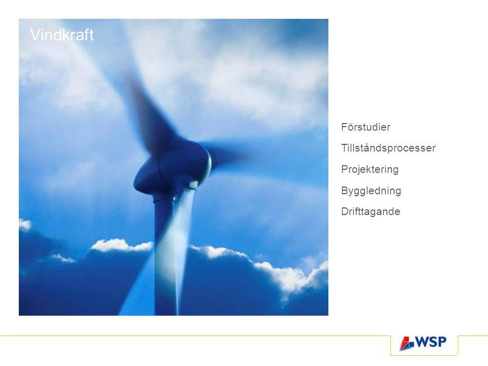 Vindkraft Förstudier Tillståndsprocesser Projektering Byggledning Drifttagande