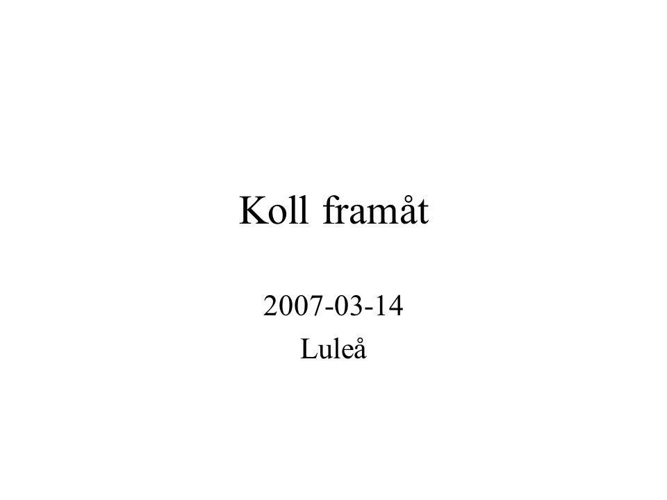 Koll framåt 2007-03-14 Luleå
