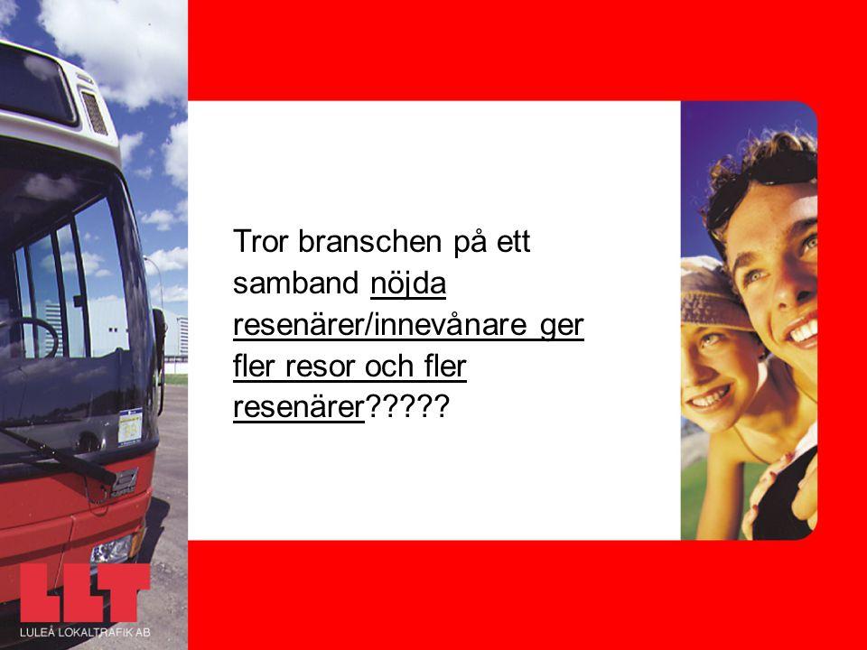 Tror branschen på ett samband nöjda resenärer/innevånare ger fler resor och fler resenärer