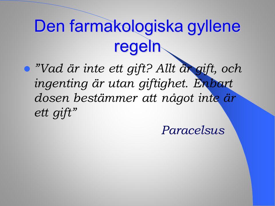 Inte bara Paracelsus …  Primum non nocere - för det första, gör ingen skada Galen  Galen  Aut ne offendas - jag skall undvika att orsaka skada eller oförrätt Hippokrates ed  Hippokrates ed  Vad beträffar sjukdomar, låt Din vana bli att hjälpa de sjuka eller att åtminstone inte skada dem Hippokrates ( ur Epidemics )  Hippokrates ( ur Epidemics )