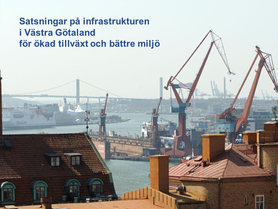 Satsningar på infrastrukturen i Västra Götaland för ökad tillväxt och bättre miljö