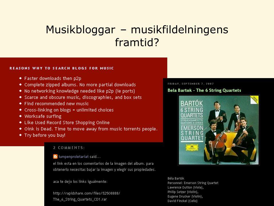 Musikbloggar – musikfildelningens framtid?