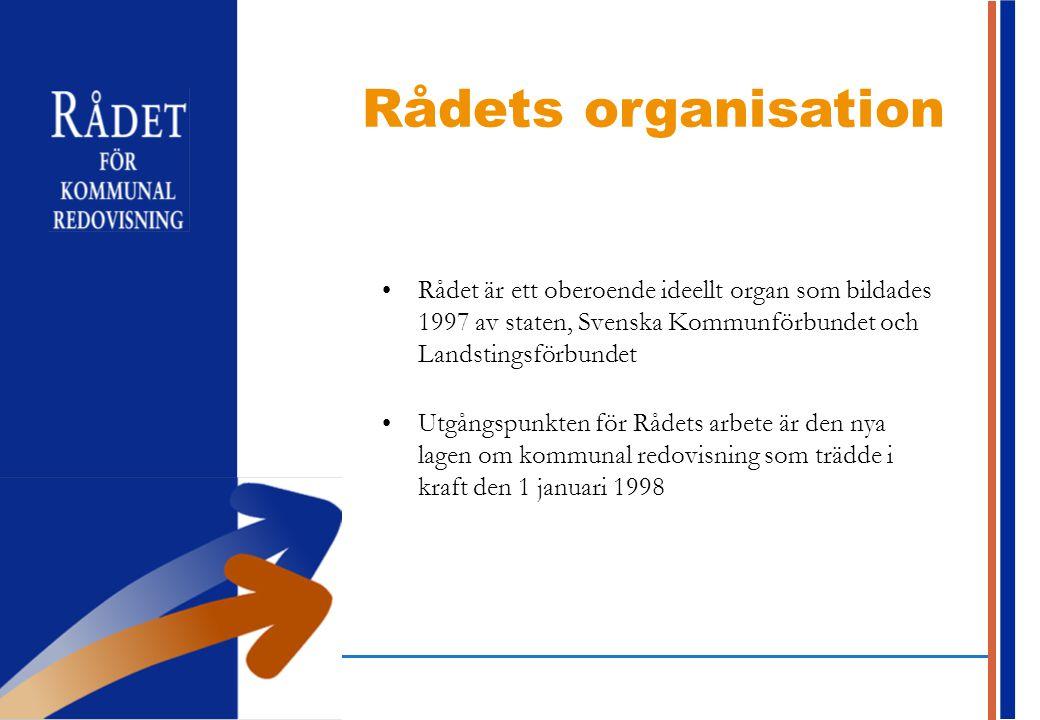 Rådet är ett oberoende ideellt organ som bildades 1997 av staten, Svenska Kommunförbundet och Landstingsförbundet Utgångspunkten för Rådets arbete är