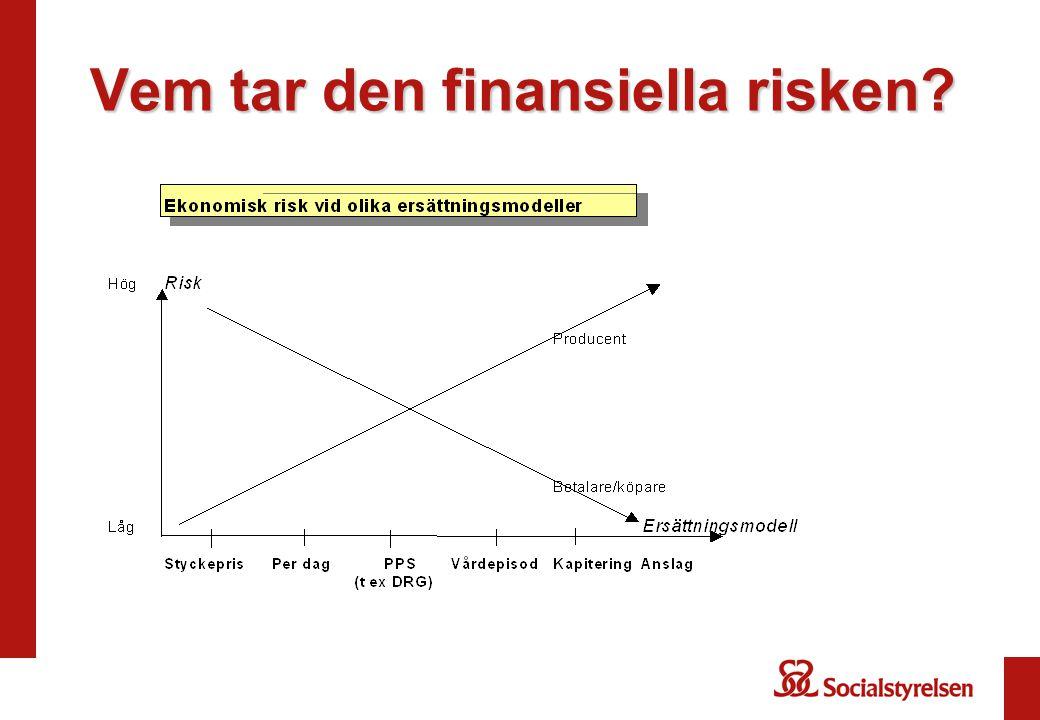 Vem tar den finansiella risken?