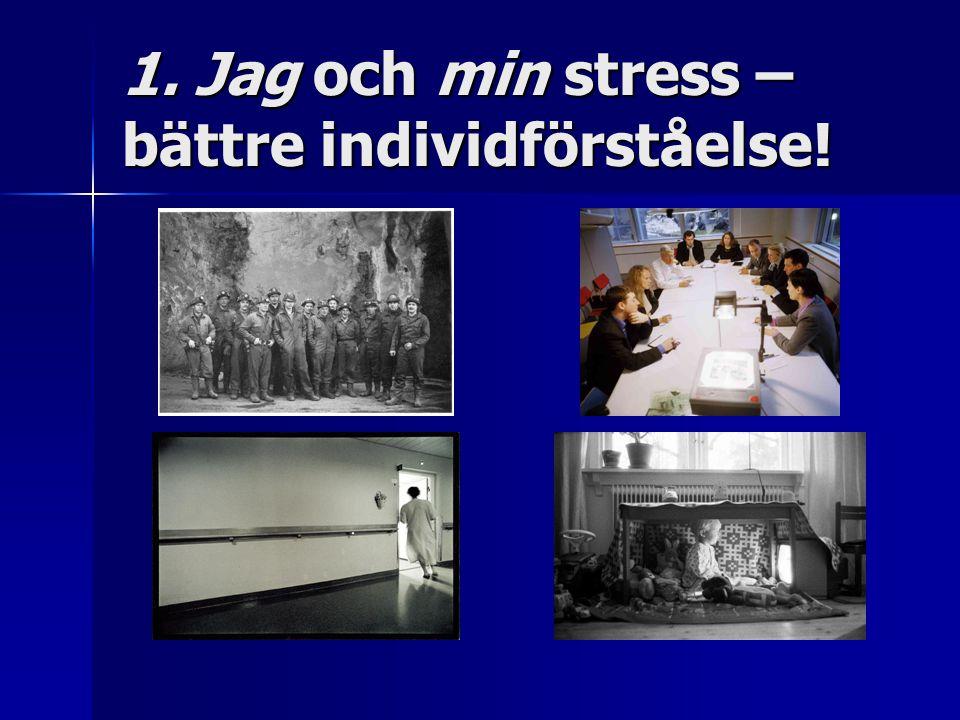 1. Jag och min stress – bättre individförståelse!