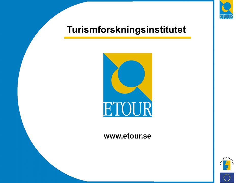 Turismforskningsinstitutet www.etour.se