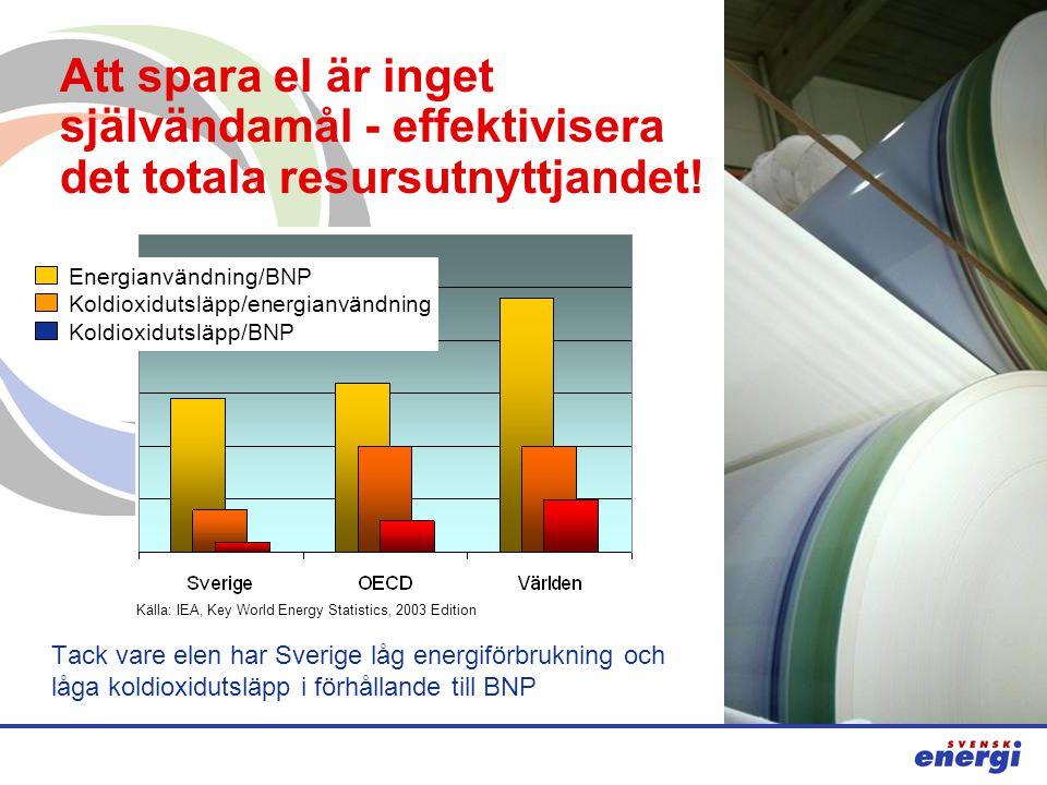 Att spara el är inget självändamål - effektivisera det totala resursutnyttjandet.