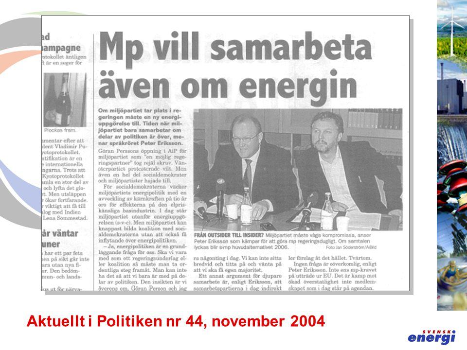 Aktuellt i Politiken nr 44, november 2004