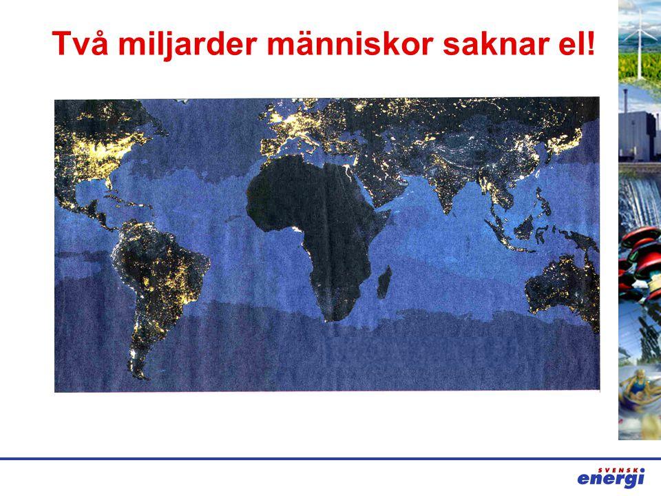 Två miljarder människor saknar el!