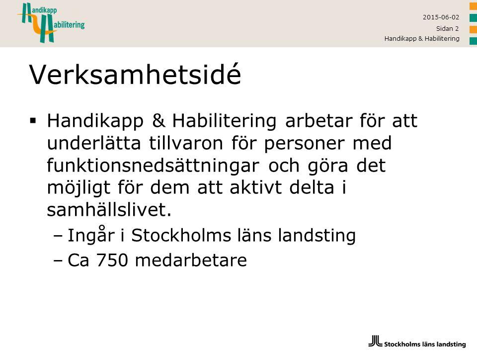 2015-06-02 Handikapp & Habilitering Sidan 13 Bas: Lagar som styr  Genomgång av lagstiftning  Samhällets stöd